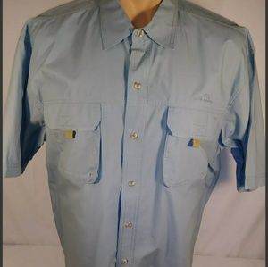 EDDIE BAUER MEN'S BLUE OUTDOORS/FISHING SHIRT XL